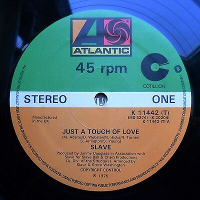 """Soul/Funk 12"""" SLAVE - JUST A TOUCH OF LOVE/SHINE - ATLANTIC RECORDS UK - MP3"""