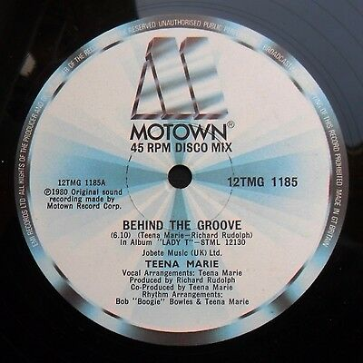 """Soul/Funk 12"""" TEENA MARIE - BEHIND THE GROOVE/YOU'RE ALL THE BOOGIE I NEED MP3"""