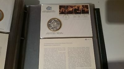 4th July 1976 Society of Postmasters: USA Sterling Silver Medal and FDC