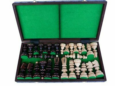 Woodeyland GIANT Hand Crafted Wooden DELUXE Chess 49 x 49 cm PROFESSIONAL Set