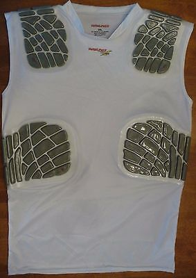 NEW Rawlings Protective Soccer Football 4 piece Compression Padded Shirt
