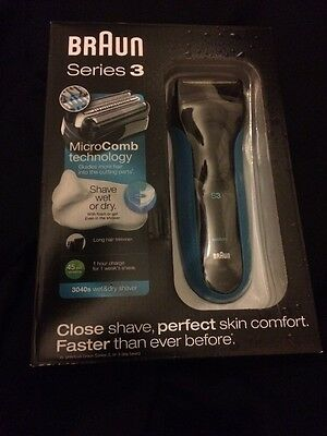 Braun Series 3 MicroComb Technology Shaver Wet Or Dry