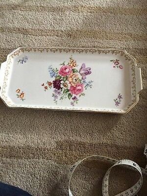 CROWN STAFFORDSHIRE CHINA ENGLANDS BOUQUET Tea Tray Serving Tray