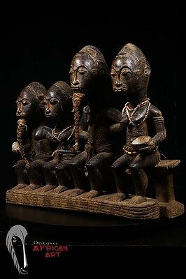Discover African Art: Finely Carved Figure of Baule Family from Ivory Coast