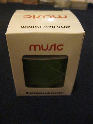 Mini Bluetooth Speaker Green New And Boxed