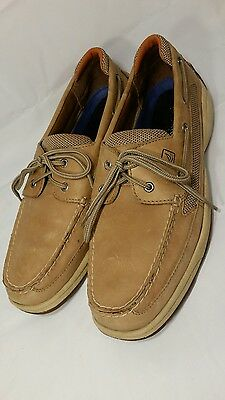 SPERRY Top-Sider Size 12M Tan Leather~Mens~Lace Up~Boat Shoes!  WOW!