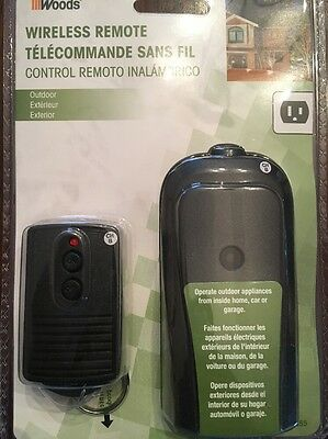 Woods Weatherproof Outdoor Outlet Wireless Remote Control Converter Kit