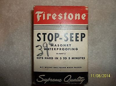 Unique Vintage Firestone  Stop -Seep Masonry Waterproofing