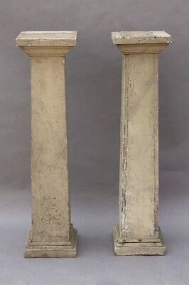 Pair Early 20th Century Columns Wooden 1900s Antique Architectural (9784)
