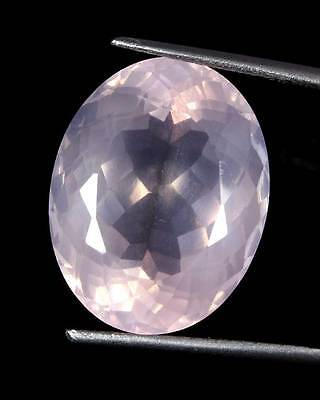 25.00Cts Natural Baby Pink Rose Quartz Oval Cabochon Quality Gemstone Brazil