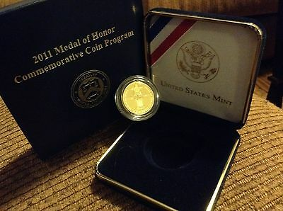 2011 W Medal of Honor $5 Gold Coin