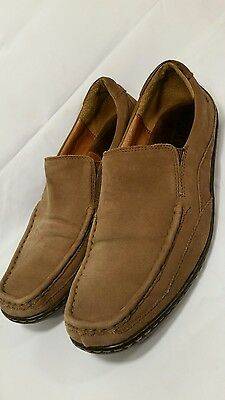 BORN Size 10.5 Brown Leather/Suede Upper/Linings~Slip On~Mens~Loafers!   WOW!