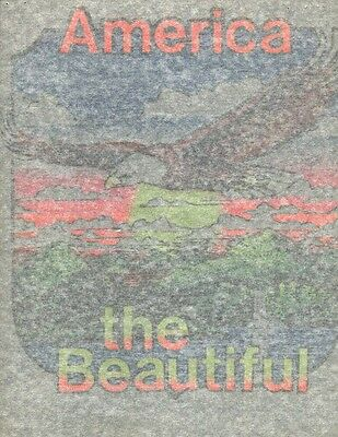 AMERICA THE BEAUTIFUL vintage 70s iron on t shirt transfer full size