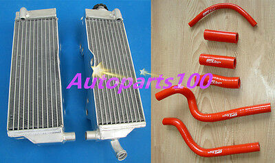 Aluminum Radiator & Red Hose Kit Honda Cr500 Cr500R 1991-2001 96 97 98 99 00 01