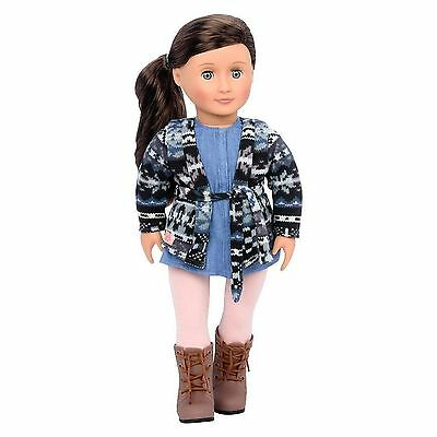 """New Our Generation Marley 18"""" doll Brown Hair Fits American Girl Grace Thomas!"""