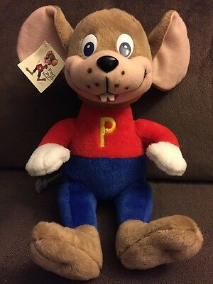 Piper The Hyper Mouse Plush With Tags, Autographed Mark Lowry