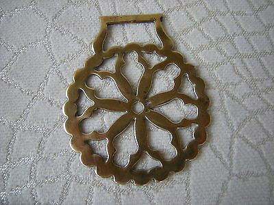 Antique Horse Brass Harness Carriage Decoration