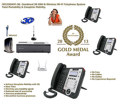 iW3240GSM Cellular GSM Mobile UPG to 3G Wi-Fi PABX PBX SIP VoIP Telephone System