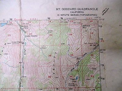 "Goddard Quadrangle US Geological Topographic Color Map 18""x22"" 1948"