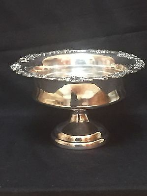 Sheffield Silverplate Bowl Footed with Grape Design On Rim