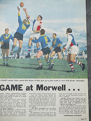 1962 Country Grand Final - WIMMERA LEAGUE v LATROBE VALLEY