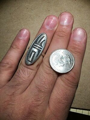 Hopi Silver Ring Overlay Excellent