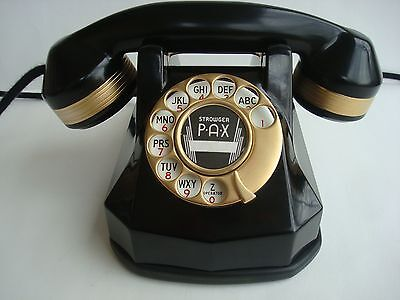 Antique Automatic Electric Monophone AE40 telephone 24KT GOLD Art  Deco