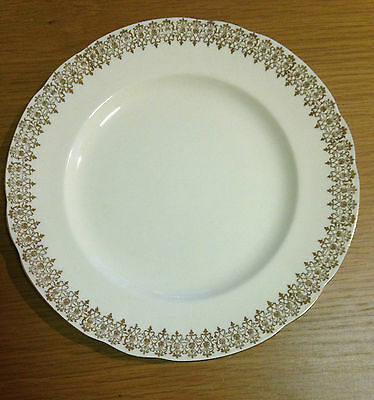ALFRED MEAKIN GOLD CHINTZ CHINA SALAD PLATE MEA120 1940s Made In England