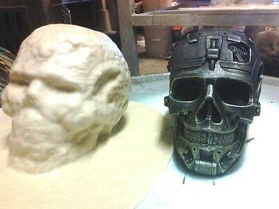 Cyborg Skull Mold Latex for Cement ,Plaster even Wax
