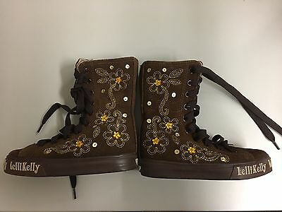 Brown Lelli Kelly Leather Boots Girl's Size 2