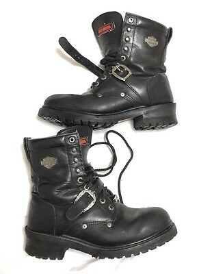 Men's Harley- Davidson Soft Toe Black Leather Motorcycle BOOTS US Size 9