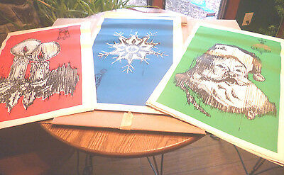 Very Rare SENTRY HARDWARE 26 2-sided Holiday Posters w/2 Holiday Ads Orig. Box