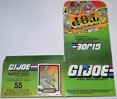 G I Joe Empty Card Box by Comic Images in 1987.