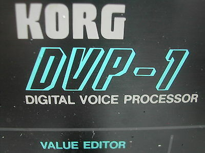 Korg DVP-1 - Harmonizer, Pitch-Shifter and Vocoder with Internal Wave-Carriers