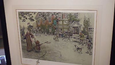 Cecil Aldin 'news Of The Victory' Pencil Signed Print By Eyre & Spottiswood,