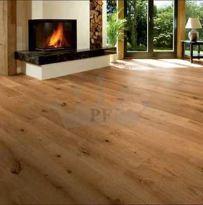 Engineered Click System Oak Flooring Brushed & Oiled 190mm x 14/3mm Wood Floor