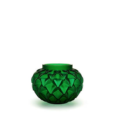 NEW Lalique Green Languedoc Vase