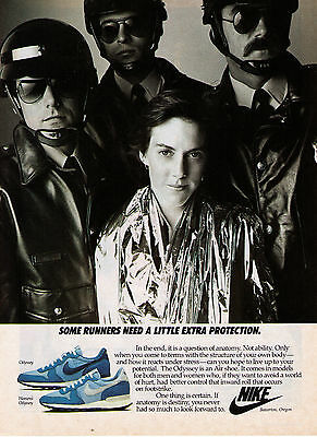 """1984 Nike 'Odyssey' """"A Little Extra Protection"""" Running Shoe Print Advertisement"""