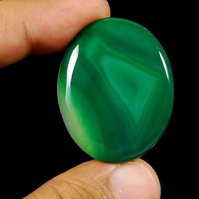 45.75 CtS Amazing Beautiful Green LACE AGATE Oval Cabochon Excellent Gemstone