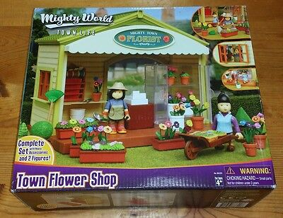 Mighty World Town Life Mighty Town Florist Rare Model #8620
