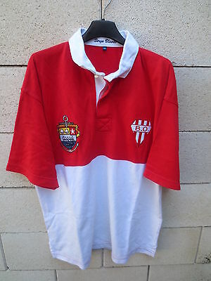 Maillot rugby vintage BIARRITZ OLYMPIQUE shirt SERGE BLANCO 15  coton jersey XXL