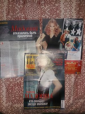 madonna clippings and pocket calendars