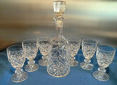 Royal Brierley Bruce Bell Shaped Wine Decanter & 6 Quality Wine Glasses