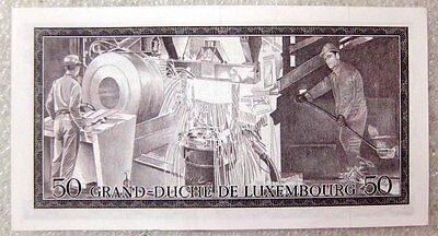 Luxembourg Luxemburg 50 FRANCS 1972 P-55 UNC BANKNOTE CURRENCY