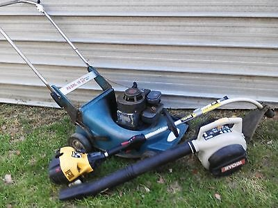 4 stroke push mower / blower and Whipper snipper