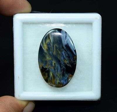 27.30 Cts. 100 % Natural Chatoyant Pietersite Oval Cabochon Untreated Loose Gems