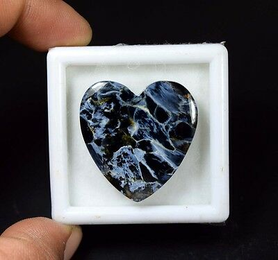 32.85 Cts. 100 % Natural Chatoyant Pietersite Heart Cabochon Loose Gemstones