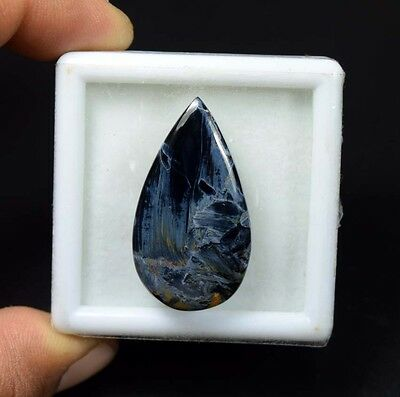 29.70 Cts. 100 % Natural Chatoyant Pietersite Pear Cabochon Untreated Loose Gems