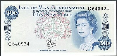 Isle of Man 50 Pence P-33a UNC