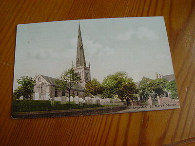 TOP3992 - Postcard - Leicester St Mary's Church